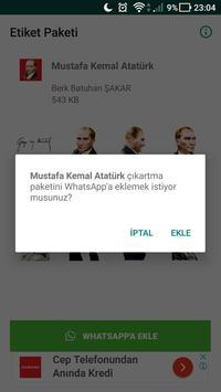 Atatürk Çıkartmaları - WhatsApp için WAStickerApps screenshot 1