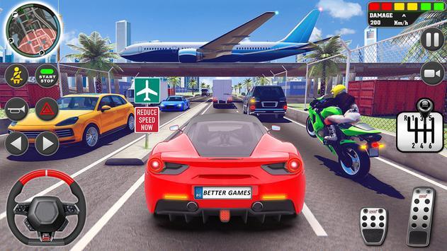 शहर ड्राइव स्कूल सिम्युलेटर: 3 डी गाड़ी पार्किंग स्क्रीनशॉट 10