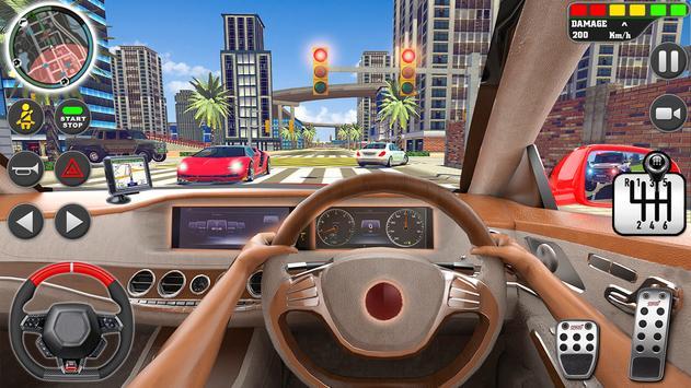 शहर ड्राइव स्कूल सिम्युलेटर: 3 डी गाड़ी पार्किंग स्क्रीनशॉट 13