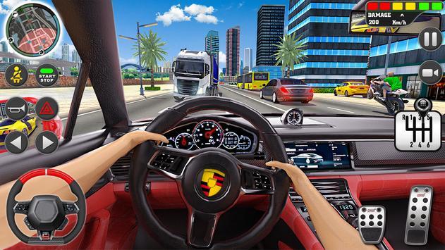 शहर ड्राइव स्कूल सिम्युलेटर: 3 डी गाड़ी पार्किंग स्क्रीनशॉट 1