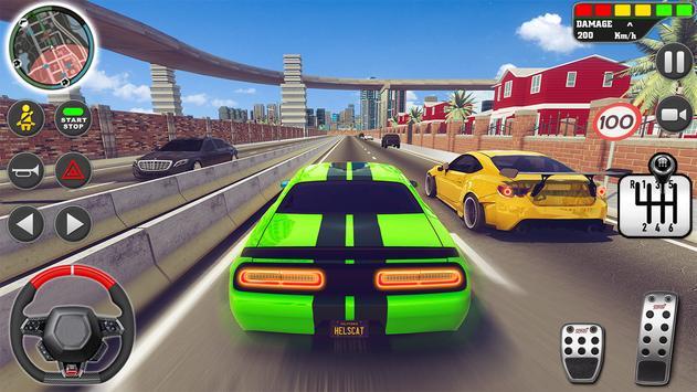 शहर ड्राइव स्कूल सिम्युलेटर: 3 डी गाड़ी पार्किंग स्क्रीनशॉट 20