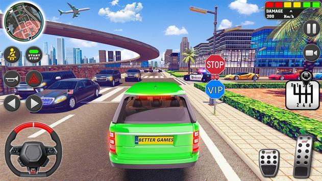 शहर ड्राइव स्कूल सिम्युलेटर: 3 डी गाड़ी पार्किंग स्क्रीनशॉट 23