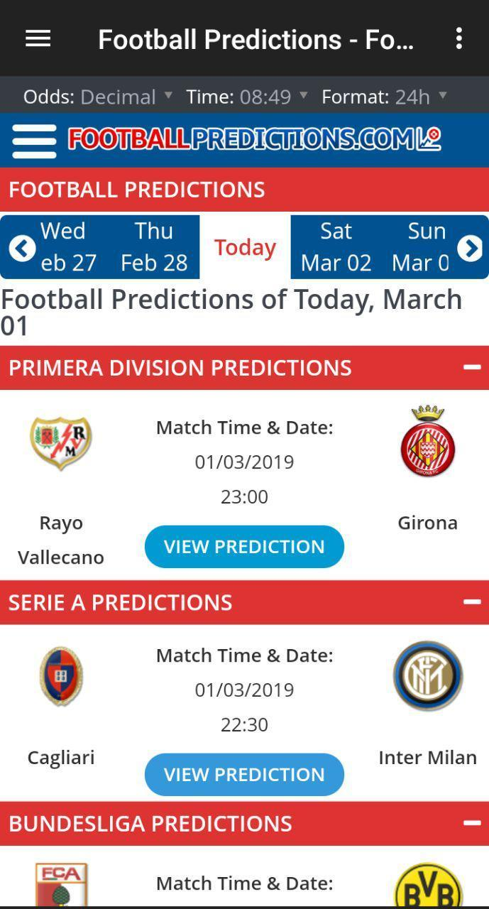 Soccer Betting Tips for Android - APK Download