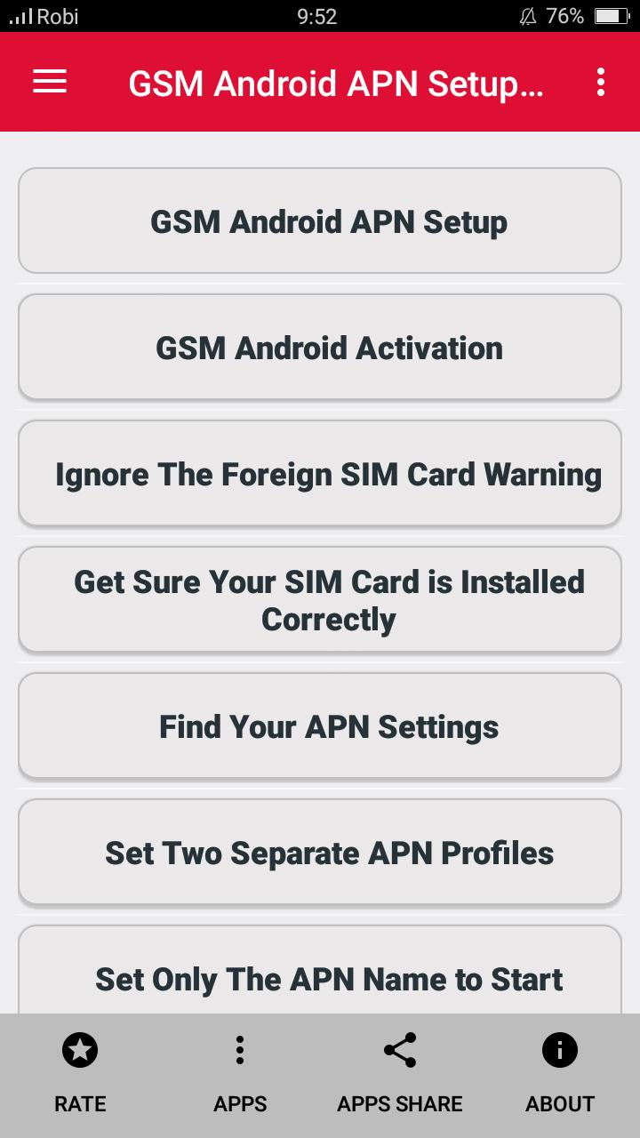 GSM Android APN Setup for Android - APK Download