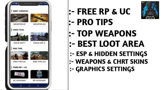 Battlegrounds Mobile India (BGMI) Tools & Pro Tips स्क्रीनशॉट 3