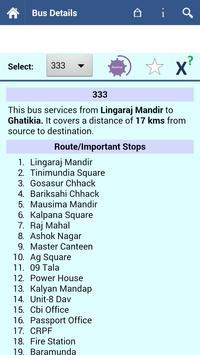 Bhubaneswar Bus Info screenshot 1