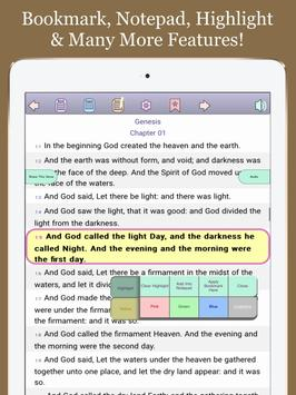 BIBLE: King James Version, All Offline, Easy &Free screenshot 8