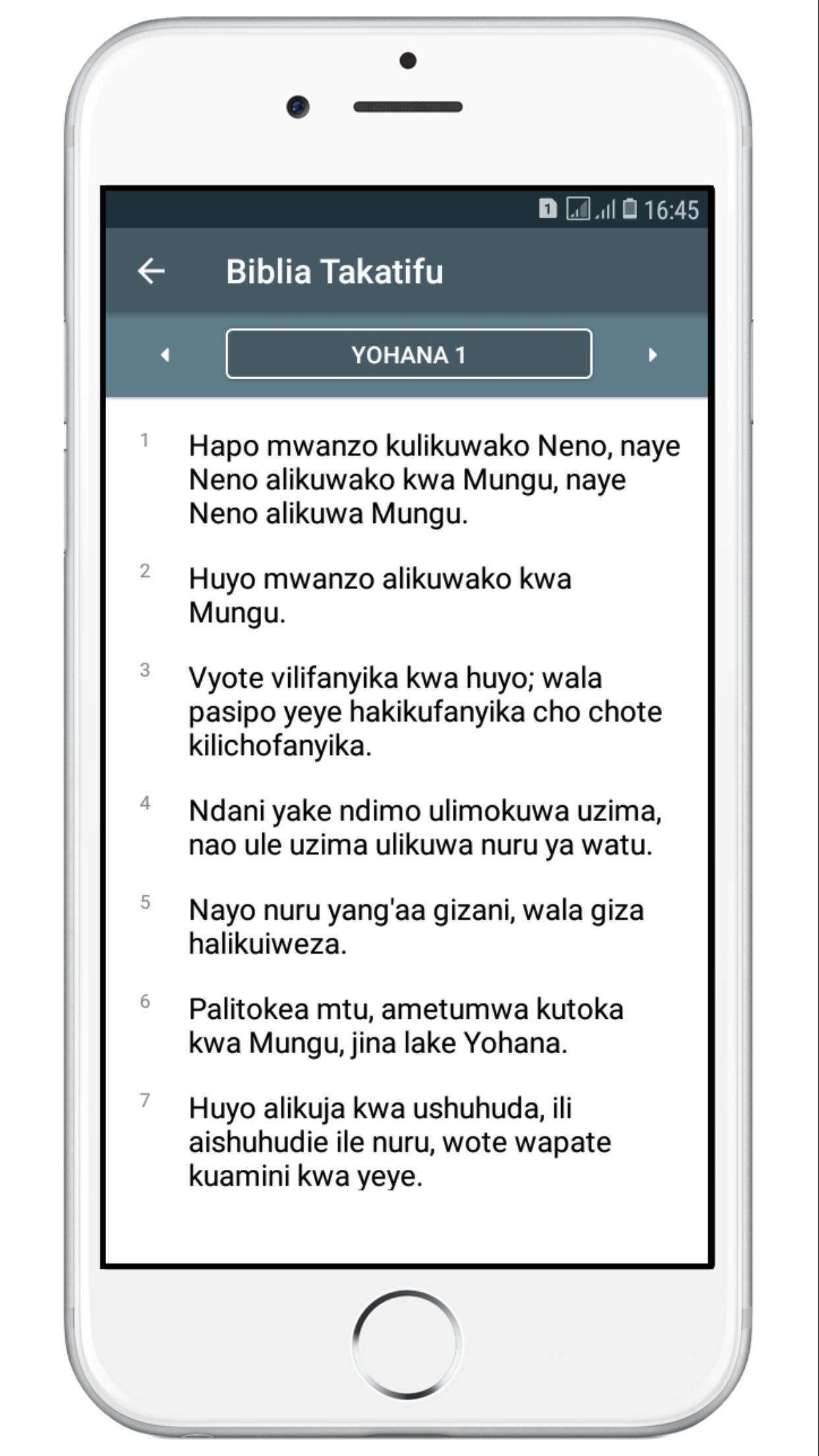 Biblia Takatifu For Android Apk Download