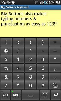 Big Buttons Keyboard Standard screenshot 1