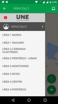 UNE Transporte Sonora скриншот 1