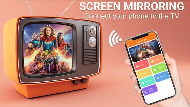Connect the phone to TV - Screen mirroring for TV poster