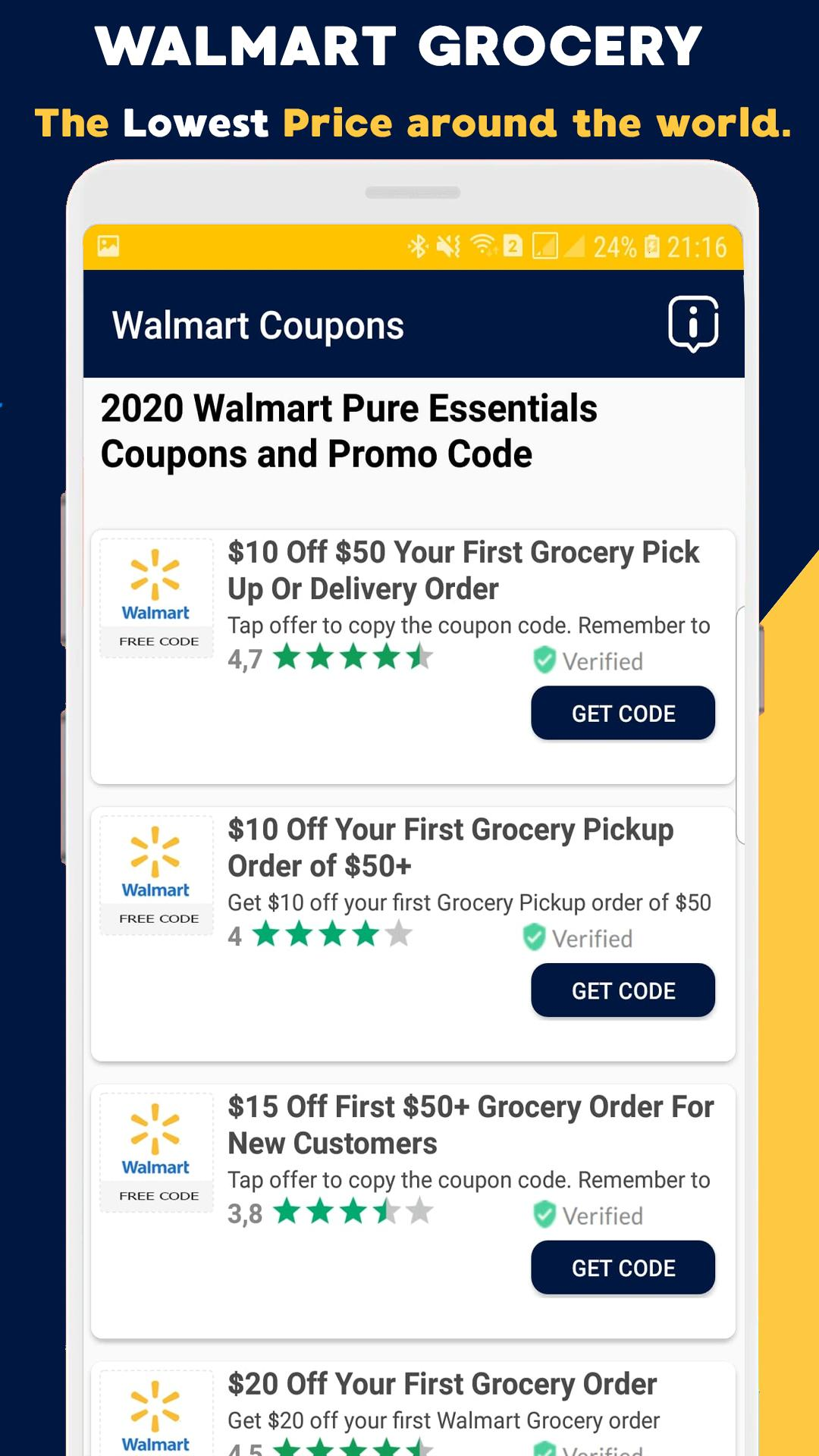 Coupons For Walmart Discounts Promo Codes 75 For Android Apk Download