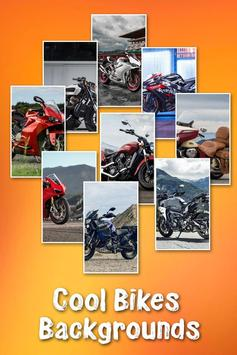 Bike photo frame poster