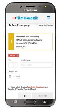 Tiket Domestik screenshot 5