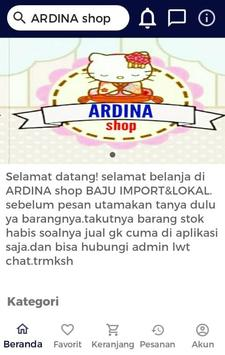 ARDINA shop screenshot 1