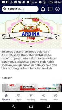 ARDINA shop screenshot 2