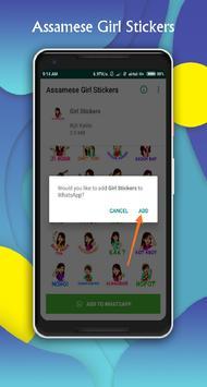 Assamese Girl Sticker for WhatsApp - WAStickerApps screenshot 1