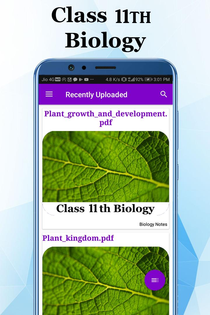 CBSE Class 11 Biology Exam Topper 2020 for Android - APK