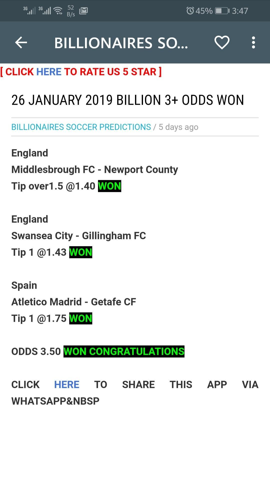 BILLIONAIRES SOCCER PREDICTIONS for Android - APK Download