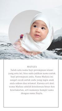Nama Bayi Perempuan Islami Bermakna Cantik poster
