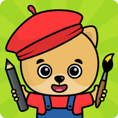 Coloring and drawing for kids icon