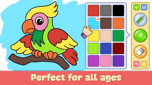 Coloring and drawing for kids poster