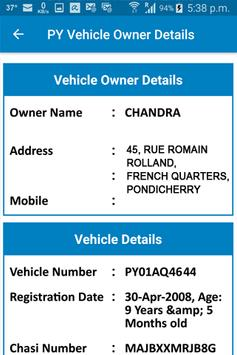 PY Vehicle Owner Details screenshot 1
