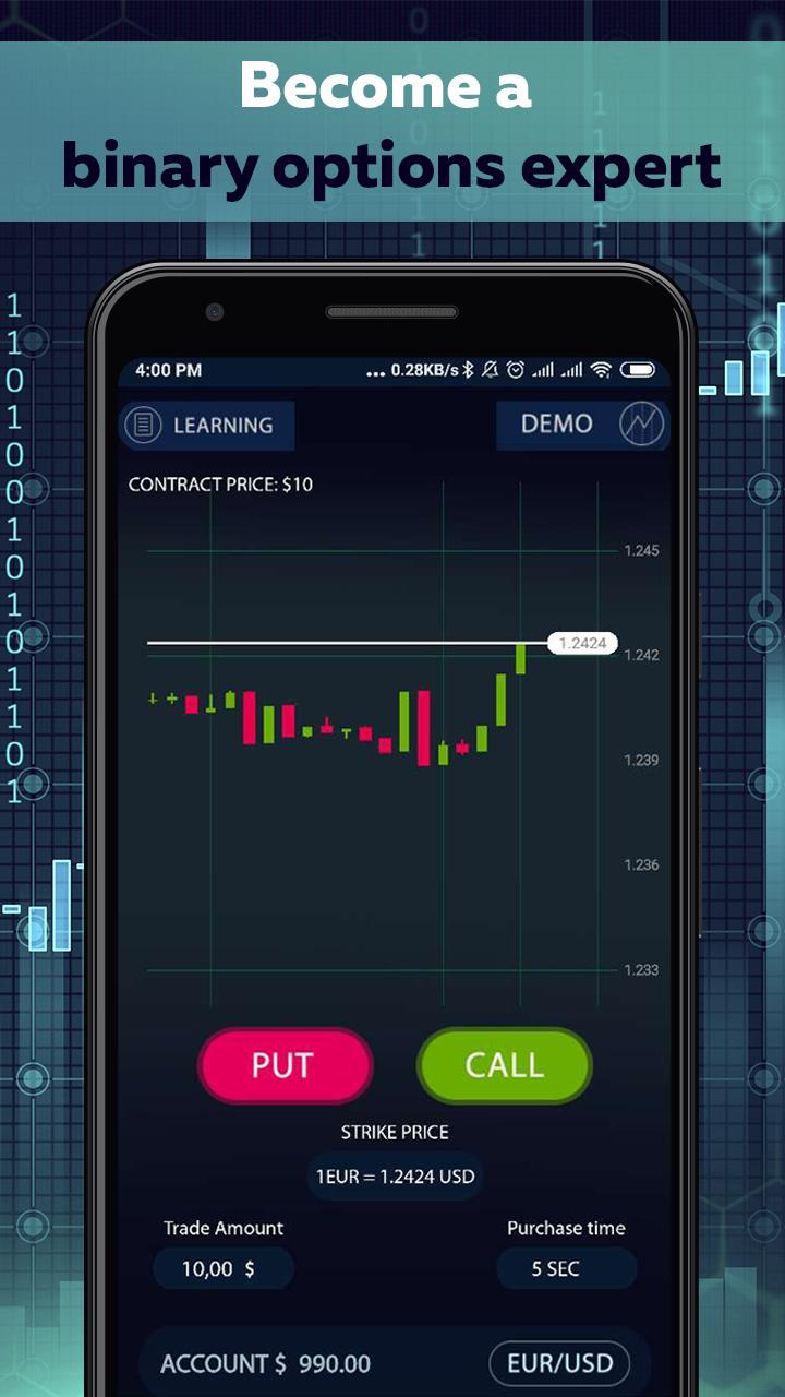 Binary options trading apps make money betting against market