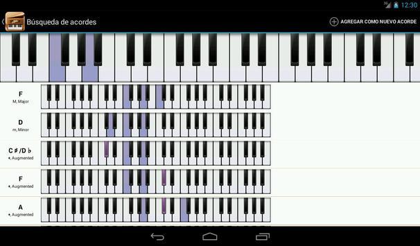 Piano Companion PRO: acordes captura de pantalla 16