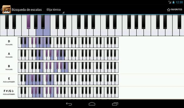 Piano Companion PRO: acordes captura de pantalla 17
