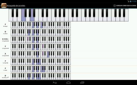 Piano Companion PRO: acordes captura de pantalla 10