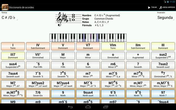 Piano Companion PRO: acordes captura de pantalla 6
