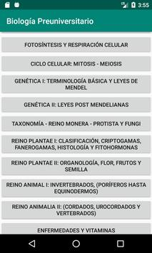 Biología Teoría Gratis screenshot 1