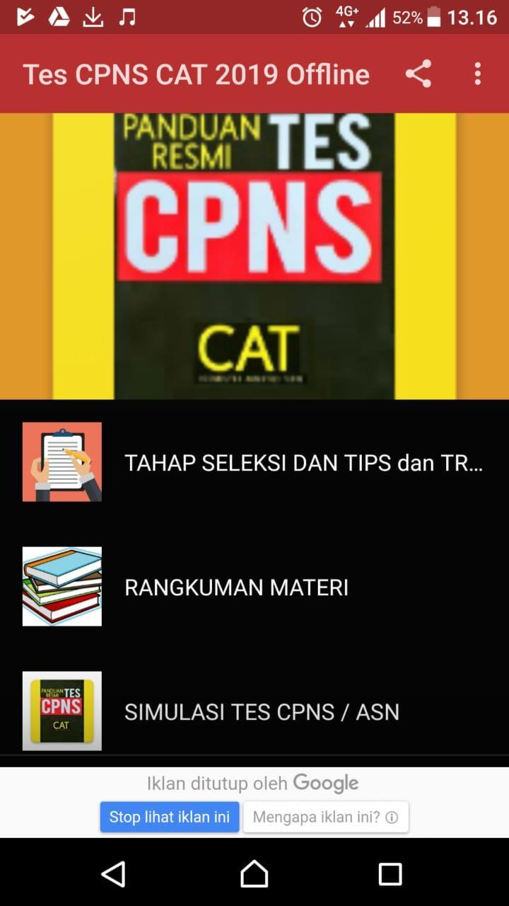 Soal Cpns Cat 2019 For Android Apk Download
