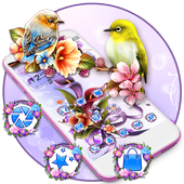 Bird Purple Flower Launcher Theme icon