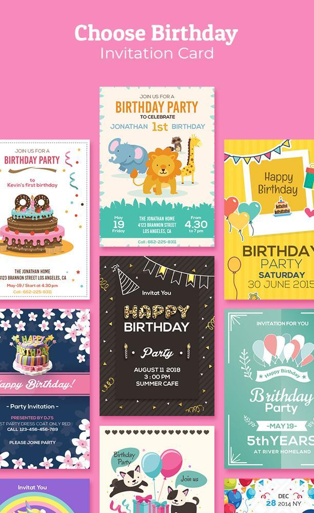 Birthday Invitation Maker Invitation Card Maker For