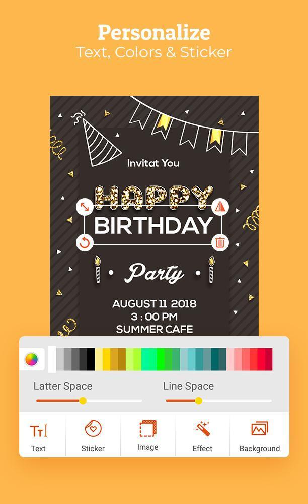 Birthday Invitation Maker Invitation Card Maker For