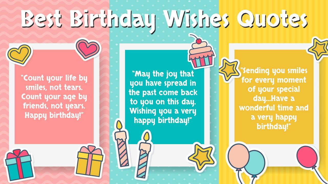 Birthday Wishes - Cards, Frame, GIF, Sticker, Song for