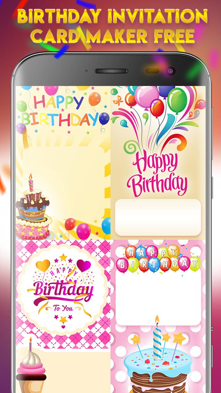 Birthday Invitation Card Maker Free For Android Apk Download