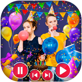 Happy Birthday Photo Effect Video Animation Maker icon