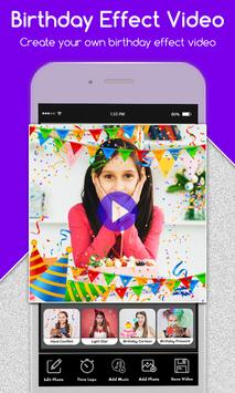 Happy Birthday Photo Effect Video Animation Maker poster