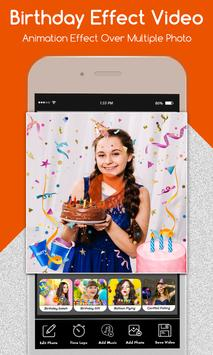 Happy Birthday Photo Effect Video Animation Maker screenshot 3