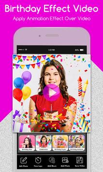 Happy Birthday Photo Effect Video Animation Maker screenshot 4