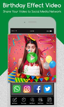 Happy Birthday Photo Effect Video Animation Maker screenshot 5