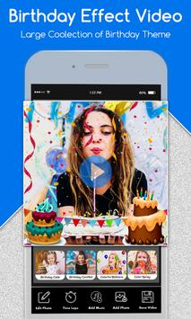 Happy Birthday Photo Effect Video Animation Maker screenshot 8
