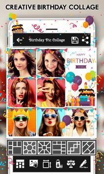 Happy Birthday : Cake, Status, Card & Photo Frame poster