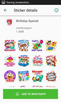 Birthday Stickers For Whatsapp - WAStickerApps screenshot 3