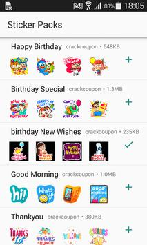 Birthday Stickers For Whatsapp - WAStickerApps poster