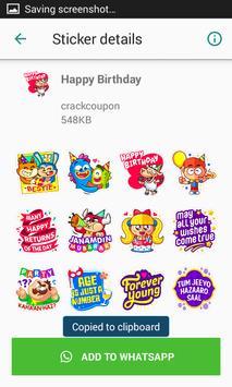 Birthday Stickers For Whatsapp - WAStickerApps screenshot 4