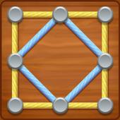 ikon Puzzle Garis: Seni Benang